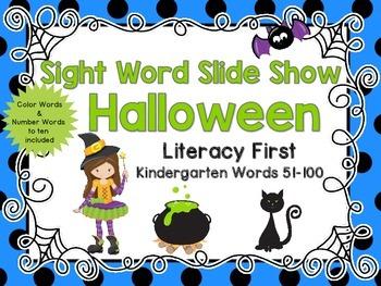 Sight Word Slide Show, Literacy First, Kindergarten Words