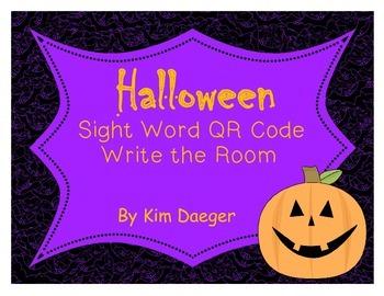 Halloween Sight Word QR Codes