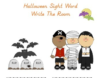 Halloween Sight Word Write The Room: Fill In The Sight Wor