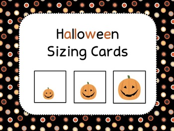 Halloween Size Ordering Cards