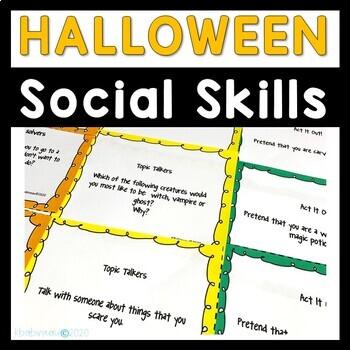 Halloween Social Skills Cards
