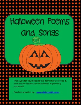 Halloween Songs and Poems