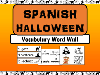 Halloween Spanish Vocabulary Word Wall