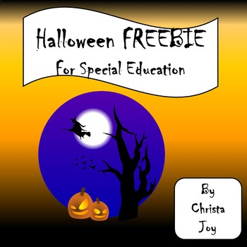 Halloween Spelling FREEBIE by Special Needs for Special Kids