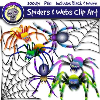 Halloween Spiders & Webs Clipart Set