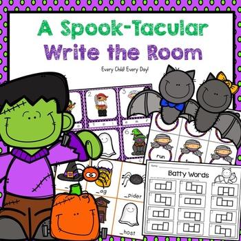 "Halloween ""Spook-tacular"" Write the Room"