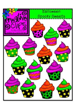 Halloween Spooky Sweet Cupcakes {Creative Clips Digital Clipart}