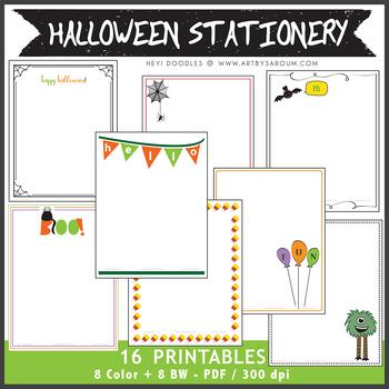 Halloween Stationery Set