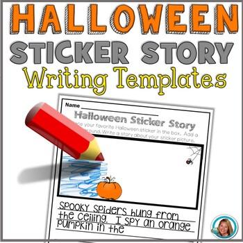 Halloween Sticker Story FREE PRINTABLE by Teacher's Brain