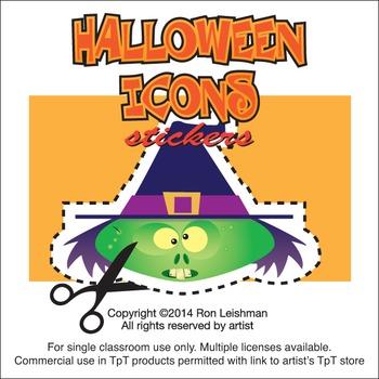 Halloween Stickers Cartoon Clipart