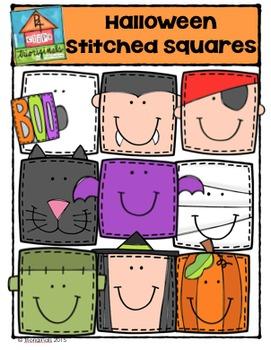 Halloween Stitched Squares {P4 Clips Trioriginals Digital