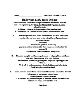 Halloween Story Book Project