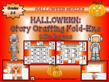 Halloween Story Crafting Mini Fold-Ems Writing Activity