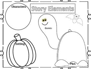 Halloween Story Elements Organizer