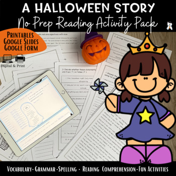 Fall Story - Reading Comprehension + Vocabulary - Sally's