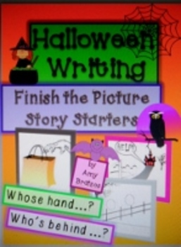 Halloween Story Starter Writing Prompts-Finish the Picture