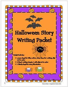 Halloween Story Writing Packet