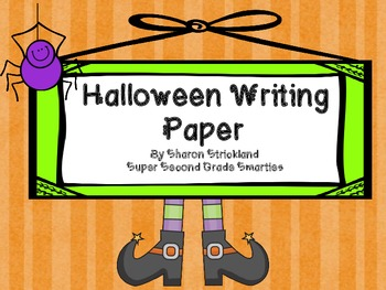 Halloween Story Writing Paper