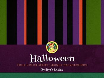 Halloween Stripe Backgrounds by Toya's Studios