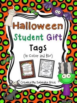 Halloween Student Gift Tags