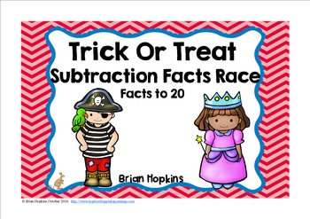 Halloween Subtraction Facts Race