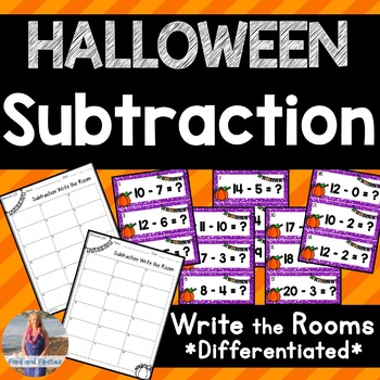Halloween Subtraction Write the Room!