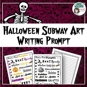 Halloween Writing / Poetry Prompt