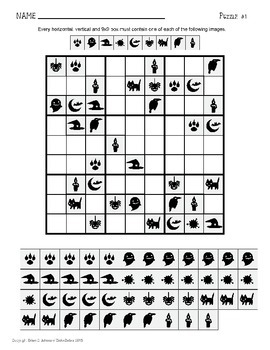 Halloween Sudoku Math Activity Freebie