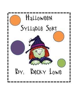 Halloween Syllable Sort, A Literacy Activity