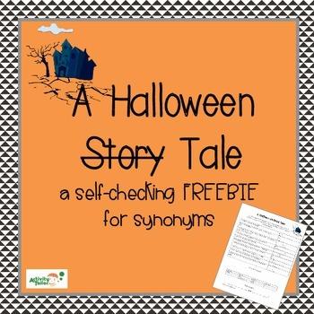 Halloween Synonyms Worksheet