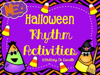 Halloween Ta, Ti-ti, & Ti-ri-ti-ri Rhythm Activities