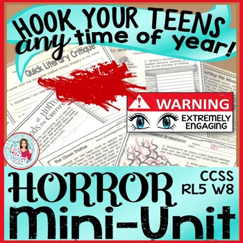Horror Mini-Unit Bundle ELA Reading & Narrative Writing, G