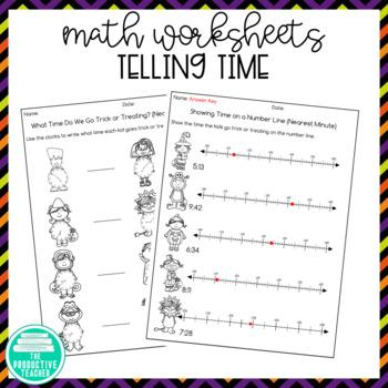 Halloween: Telling Time Worksheets