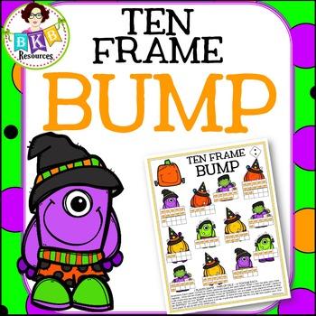 Halloween Bump ● Ten Frame Bump ● Math Game  ● Color & B/W