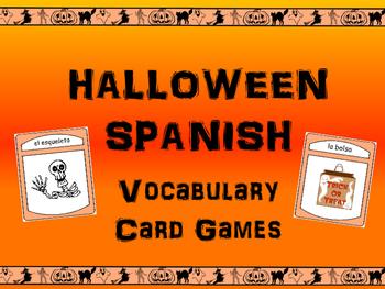 Halloween -The Halloween Vocabulary in Spanish Card Games