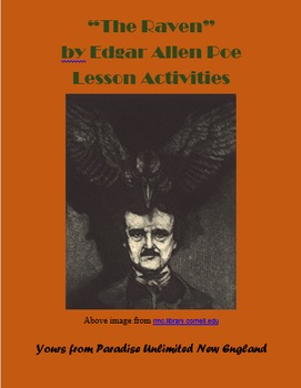 "Halloween ""The Raven"" by Edgar Allen Poe Gr. 6-9"