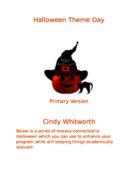 Halloween Theme Day- Primary version, aligned with Ontario
