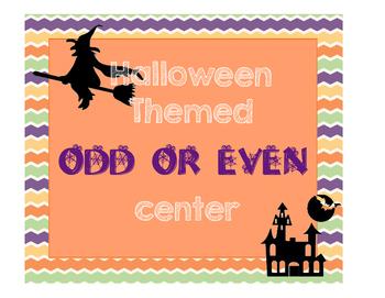 Halloween Theme Even or Odd Ten Frames Center