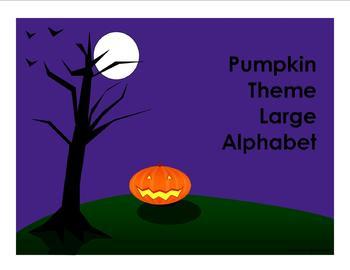 Halloween Theme Large Alphabet