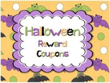 Halloween Theme Reward Coupons