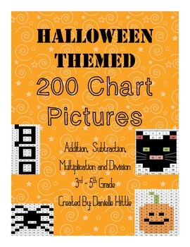 Halloween Themed 200 Chart Pictures Common Core Aligned