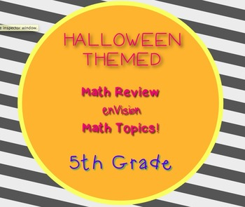Halloween Themed 5th Grade enVision Math Questions 30 task cards