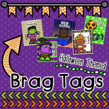 Halloween Themed Brag Tags