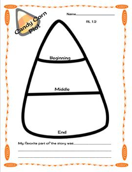 Halloween Themed Candy Corn Plot Graphic Organizer