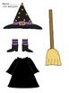 Halloween Themed Cut and Paste Activity Worksheets: