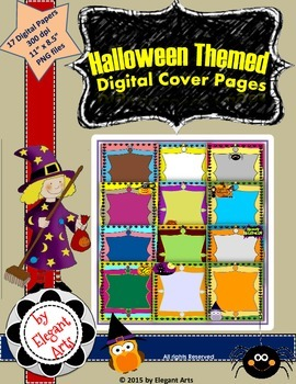 Halloween Themed Digital Cover Page Designs