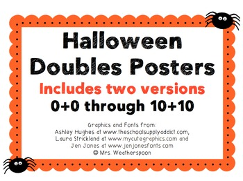 Halloween Themed Doubles Posters and Matching