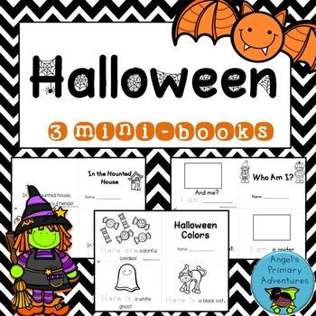 Halloween Themed Emergent Readers:  Set of 3 mini-books