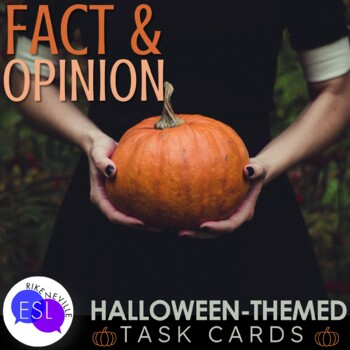 Halloween-Themed Fact & Opinion Task Cards