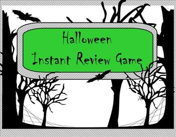 Halloween Themed Instant Review Game